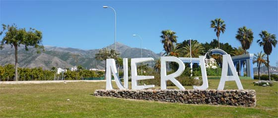 Western entrance to Nerja